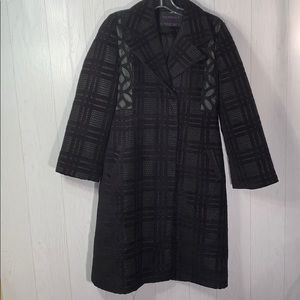 Miss Perfect Size XL black/purple fashion coat